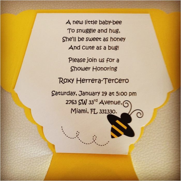 baby shower invitations bee theme
