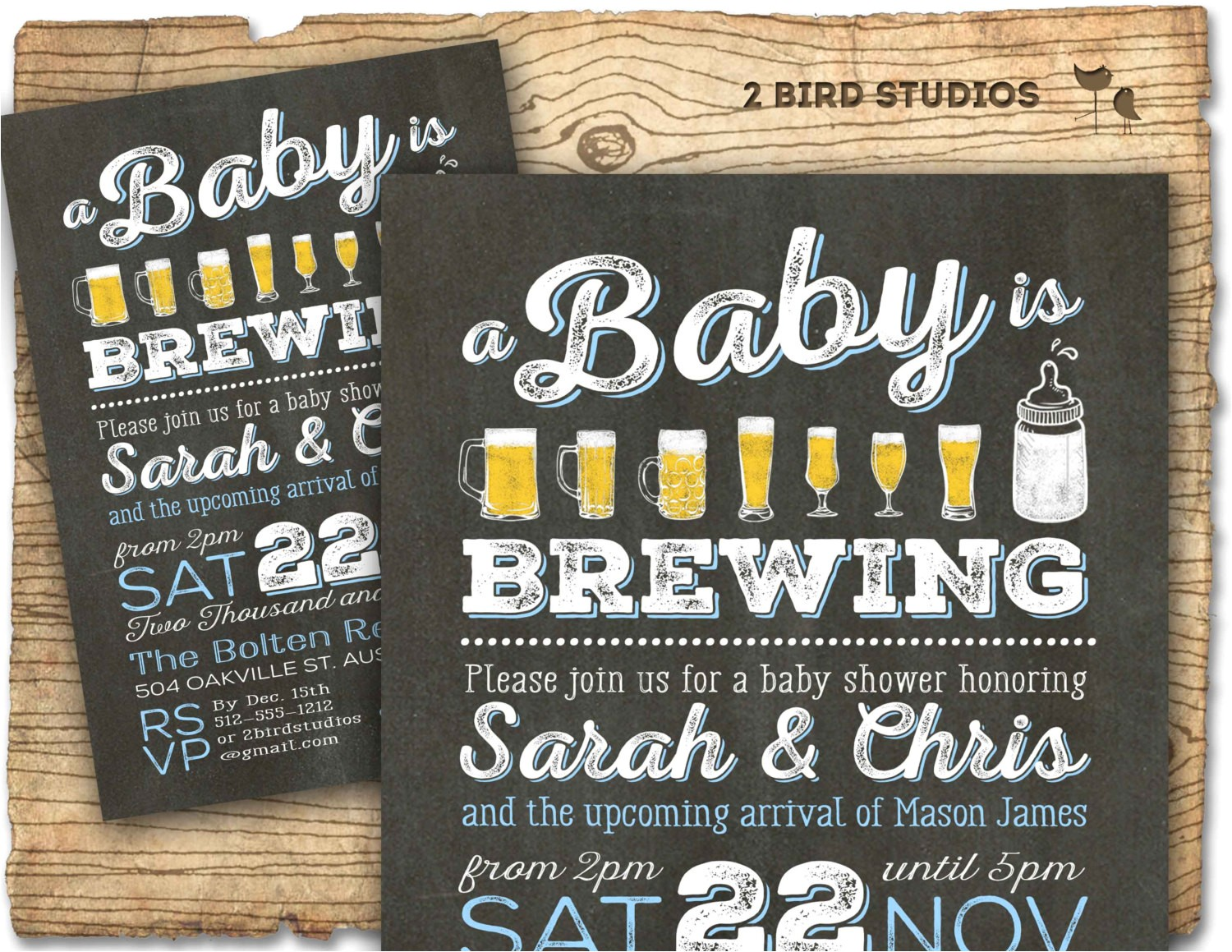 bbq beer baby shower invitation beer