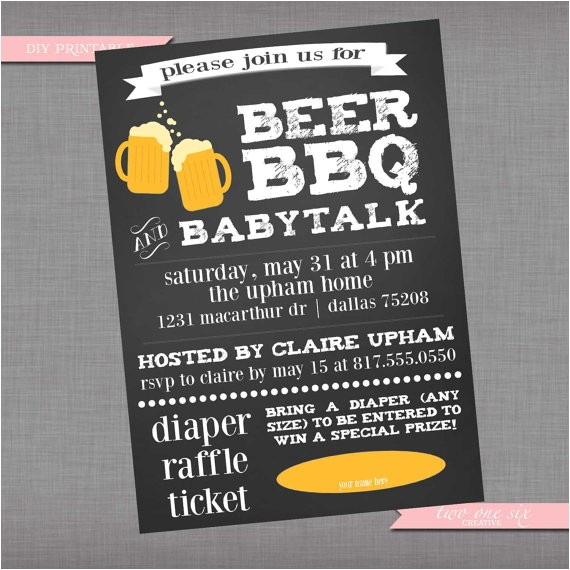 coed baby shower invitation beer bbq and