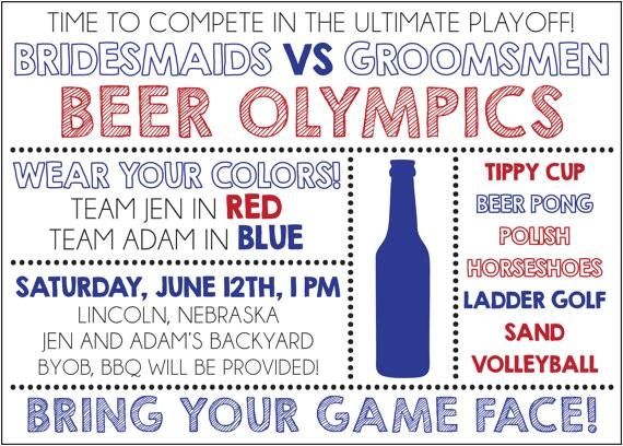 beer olympics invite digital file