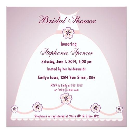 southern belle bridal shower invitation