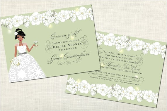 southern belle bridal shower invitations