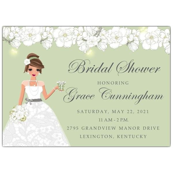 Southern Belle Brunette Bridal Shower Invitations p 606 75 ARD102 BR utm source=PS &utm medium=pinterest&utm campaign=social