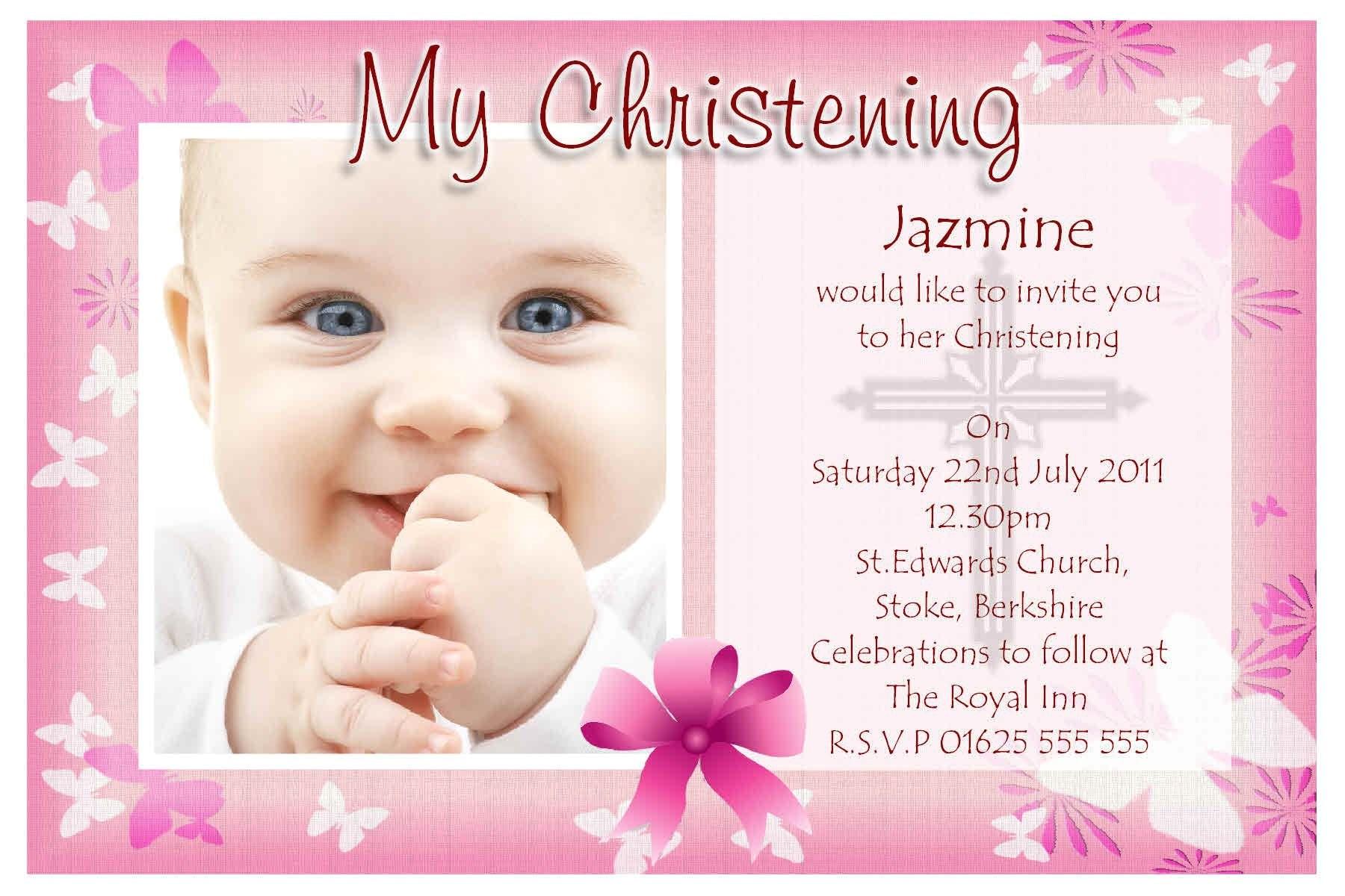 best baptism invitation wording
