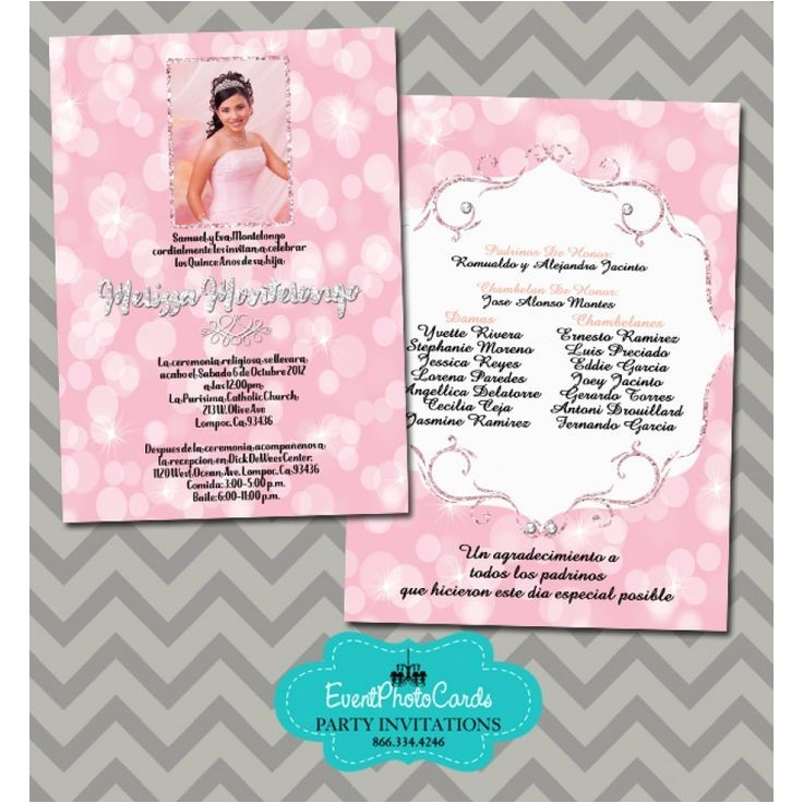 quinceanera photo invitations