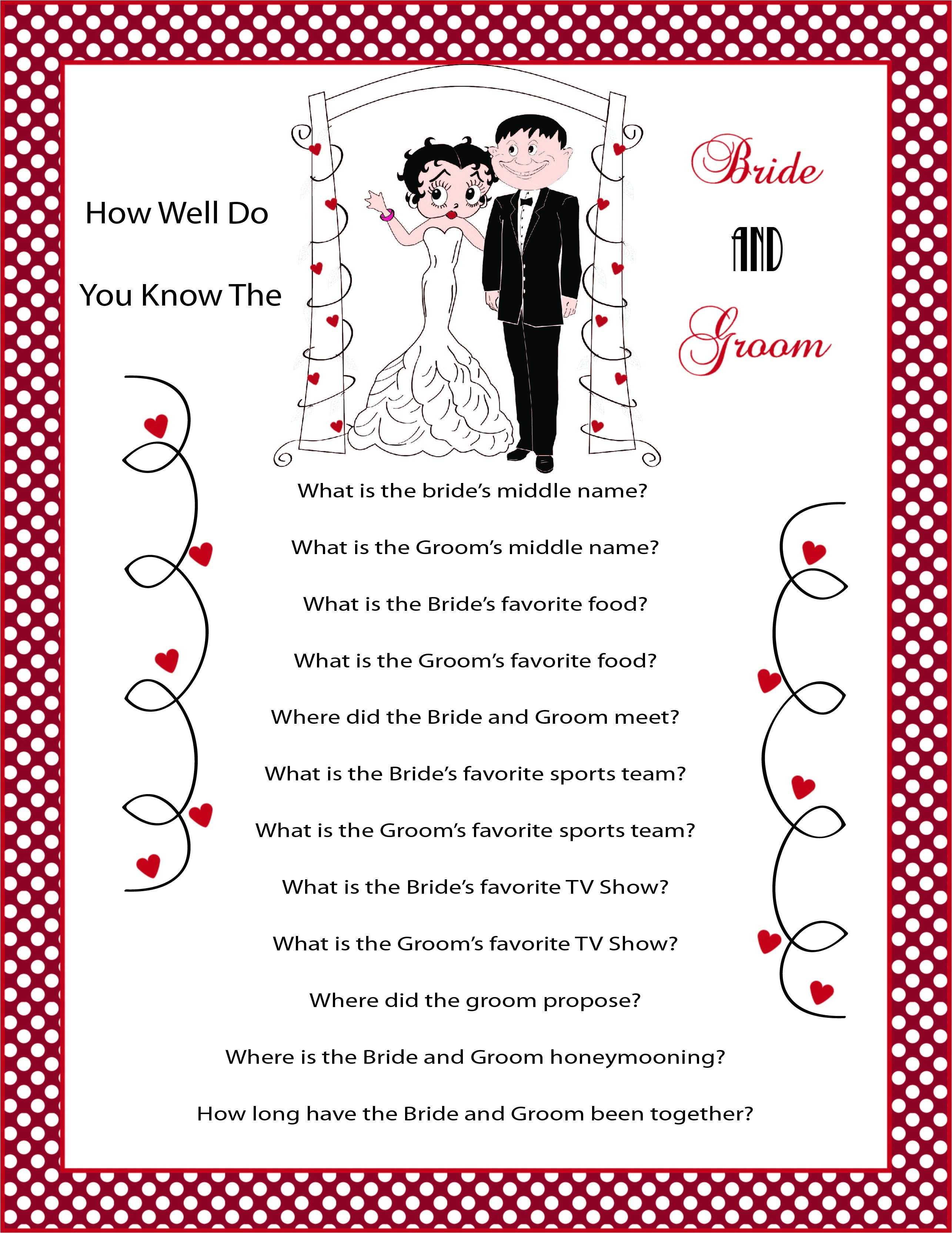 betty boop bridal shower invitations