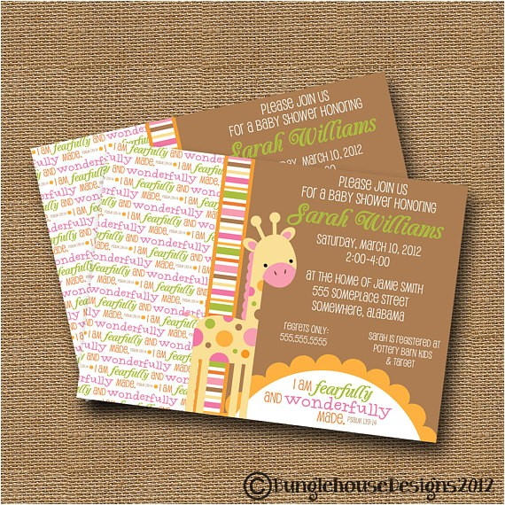 giraffe baby shower invitation diy