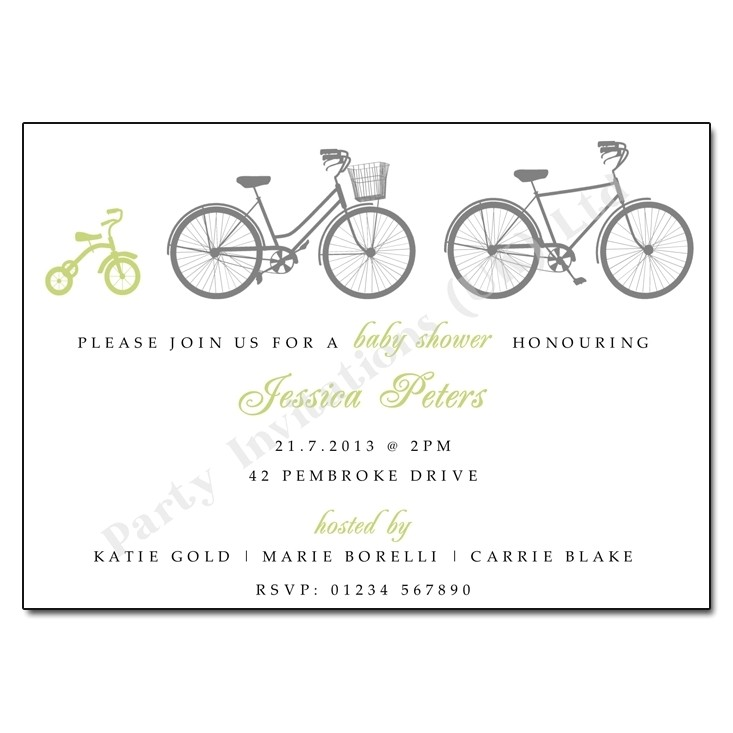 bicycle baby shower invitations