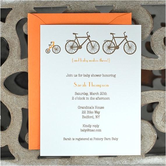 bicycle baby shower invitationbike