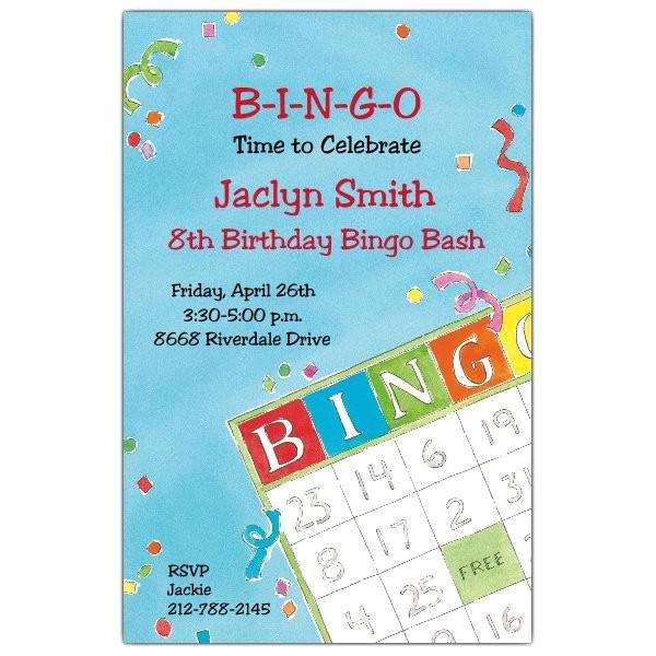 Bingo Birthday Invitations p 612 58 ITB