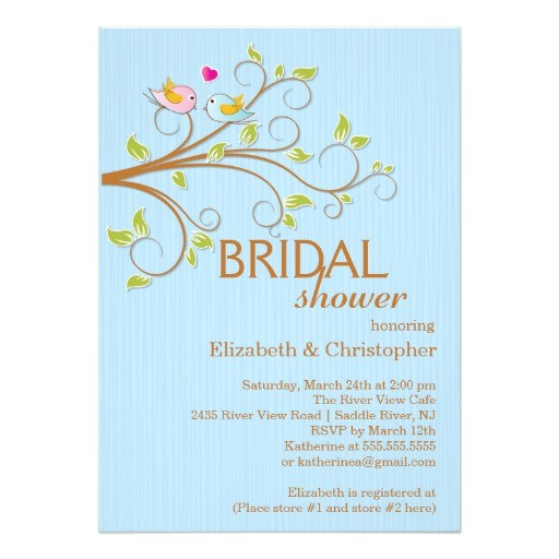 bridal shower invitations birds