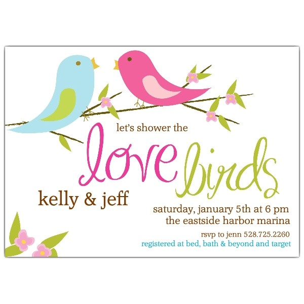 Love Birds Bridal Shower Invitations p 639 75 WD80