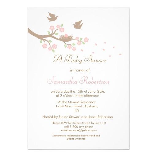 birds nest baby shower invitation 161503166817961686