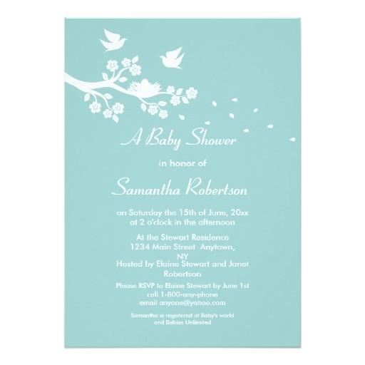 birds nest baby shower invitation 161169987627027274