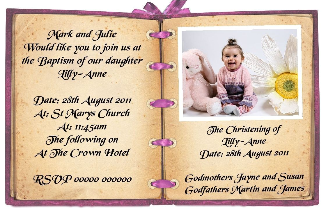 first birthday and baptism invitation wording
