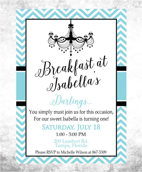 invitation breakfast sample
