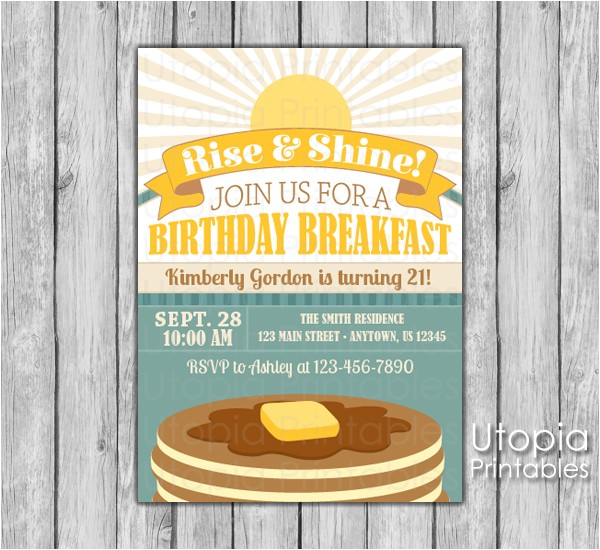 birthday breakfast invitation