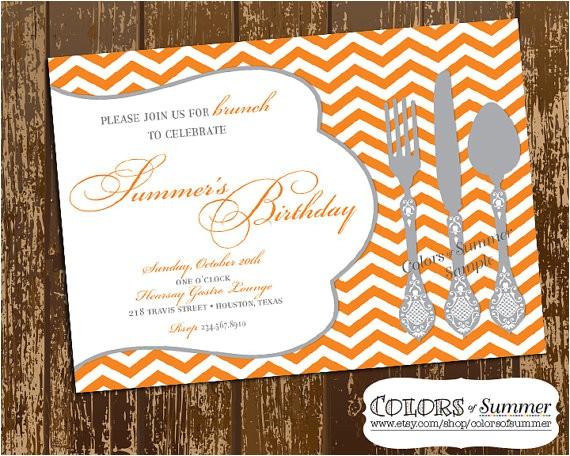 birthday brunch invitation luncheon