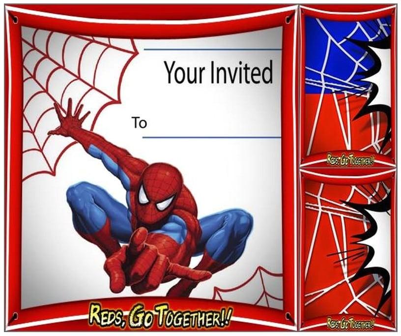free spiderman birthday invitation printable