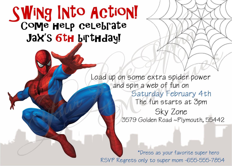 spiderman 20clipart 20birthday 20invitation 20card