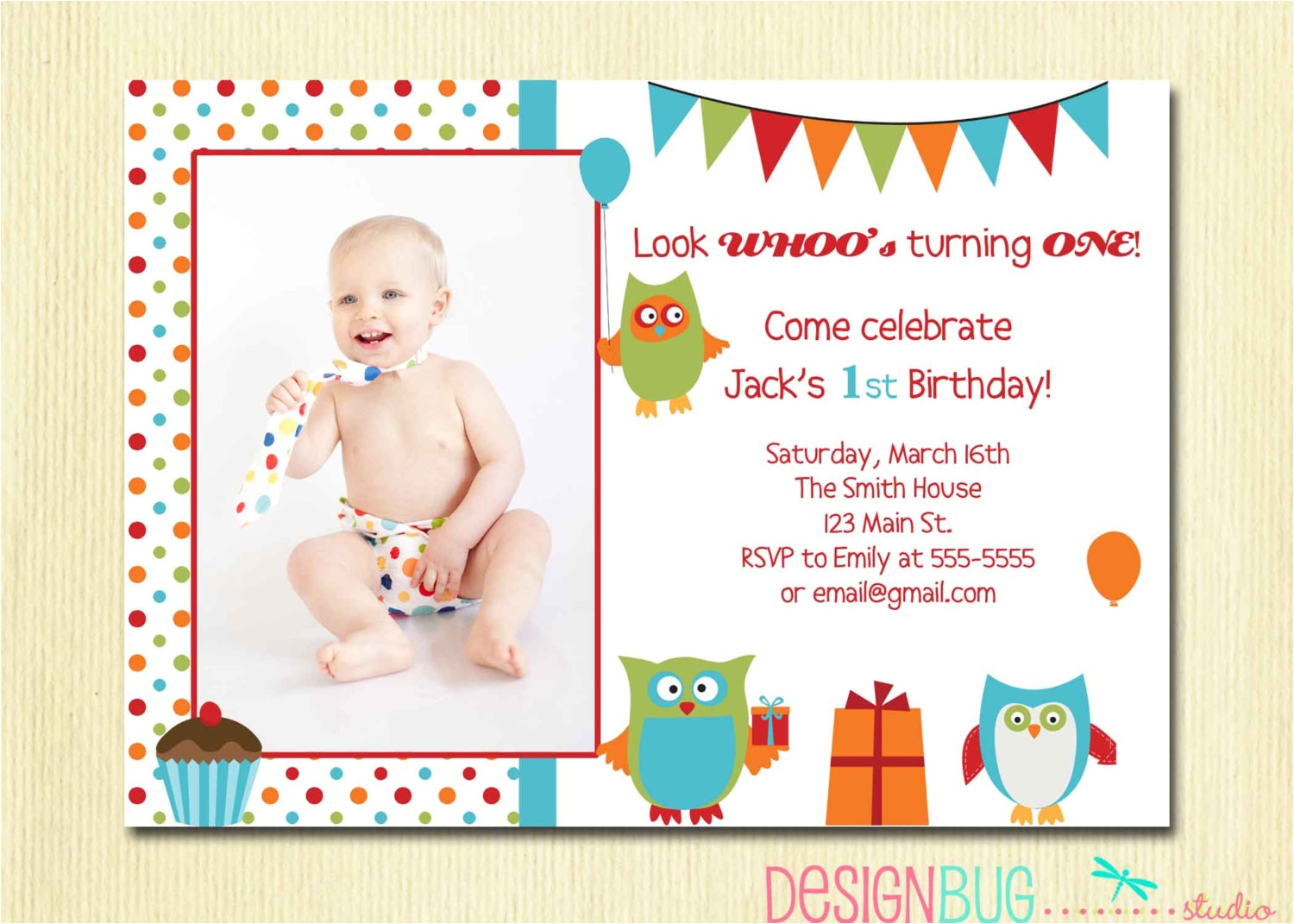 birthday invitation cards for 1 year old