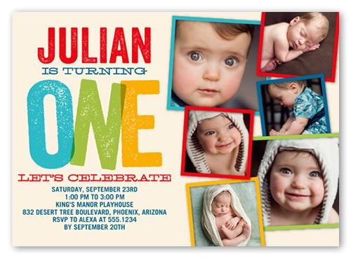 babys 1st birthday invitations