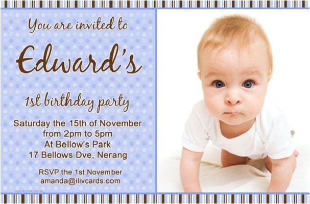 bday invitation card for 1 year
