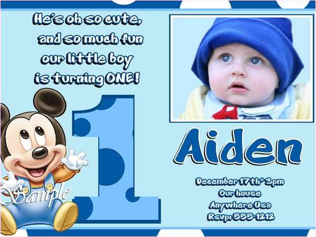 sample of birthday invitation cards 1 year old