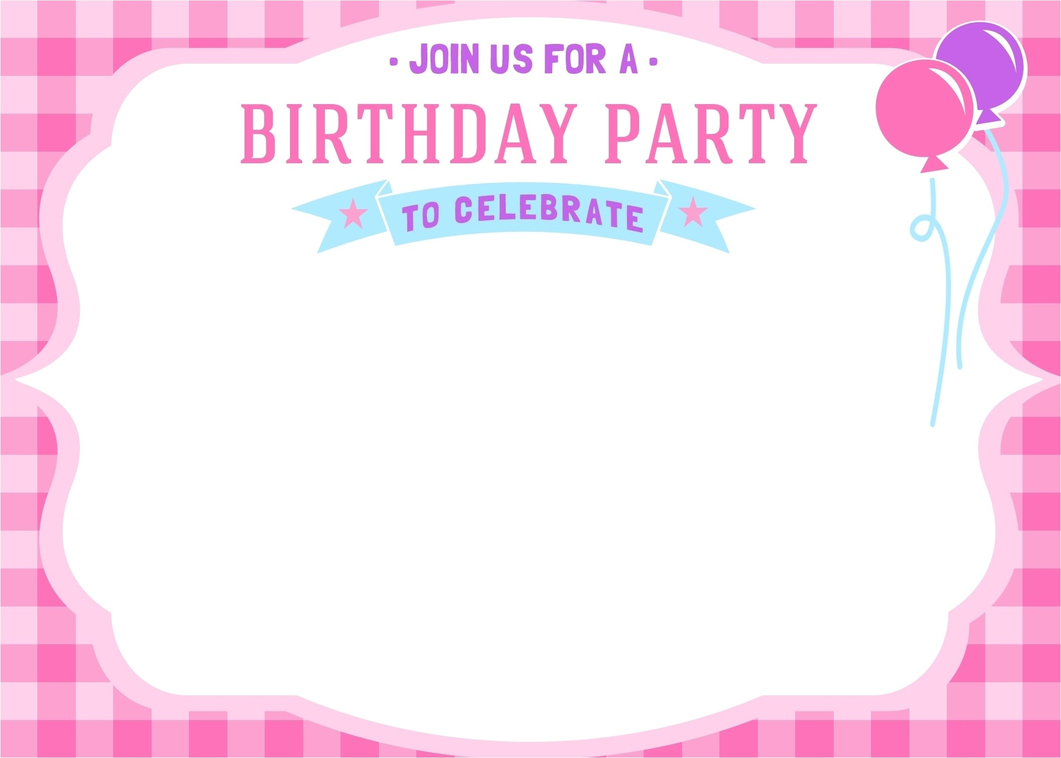 birthday invitation cards templates for girls
