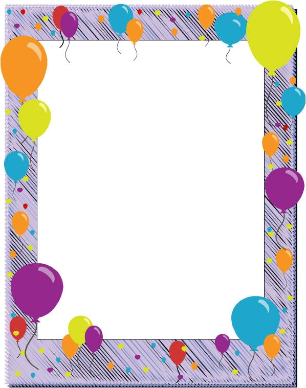 Birthday Invitation Frames and Borders 6 Free Borders for Birthday Invitations