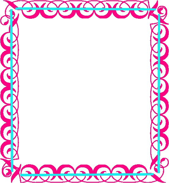 birthday borders for word
