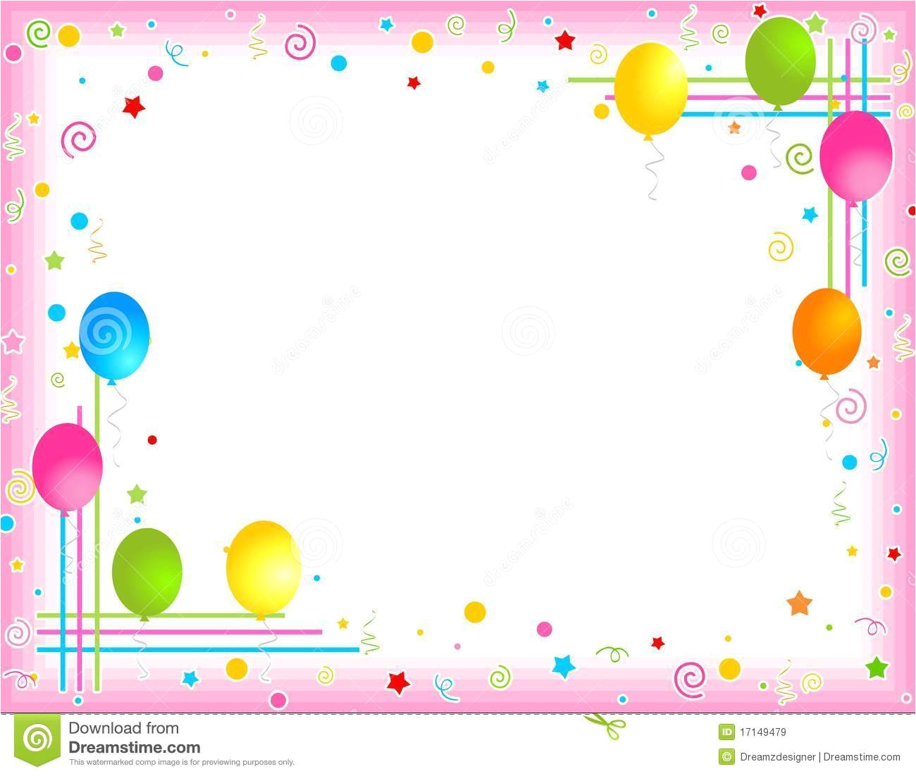 birthday party border clipart