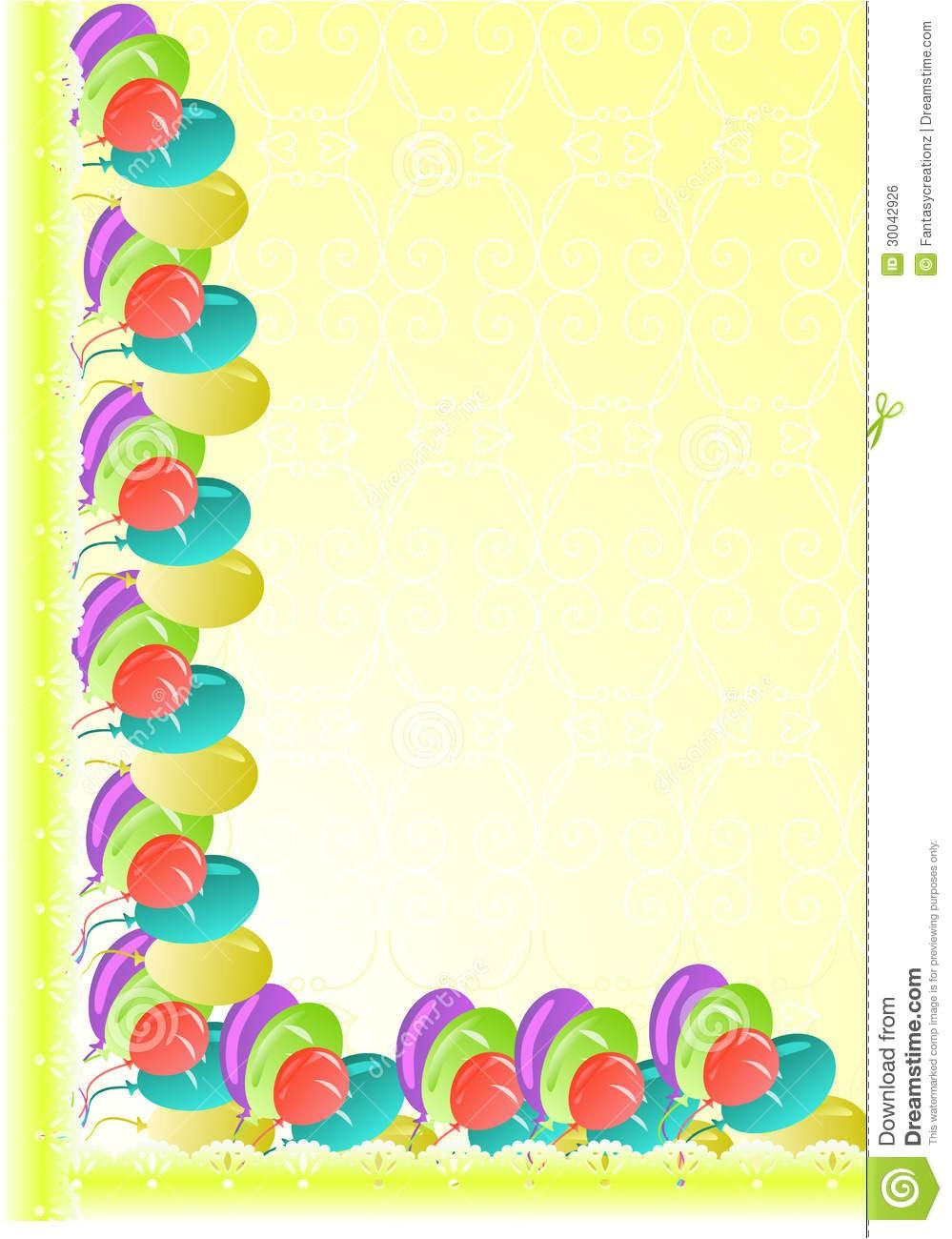 Birthday Invitation Frames and Borders Party Border Royalty Free Stock Image Image