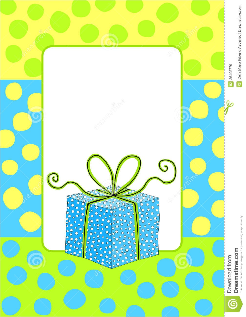 royalty free stock images birthday card invitation gift box border frame polka dot image36408779
