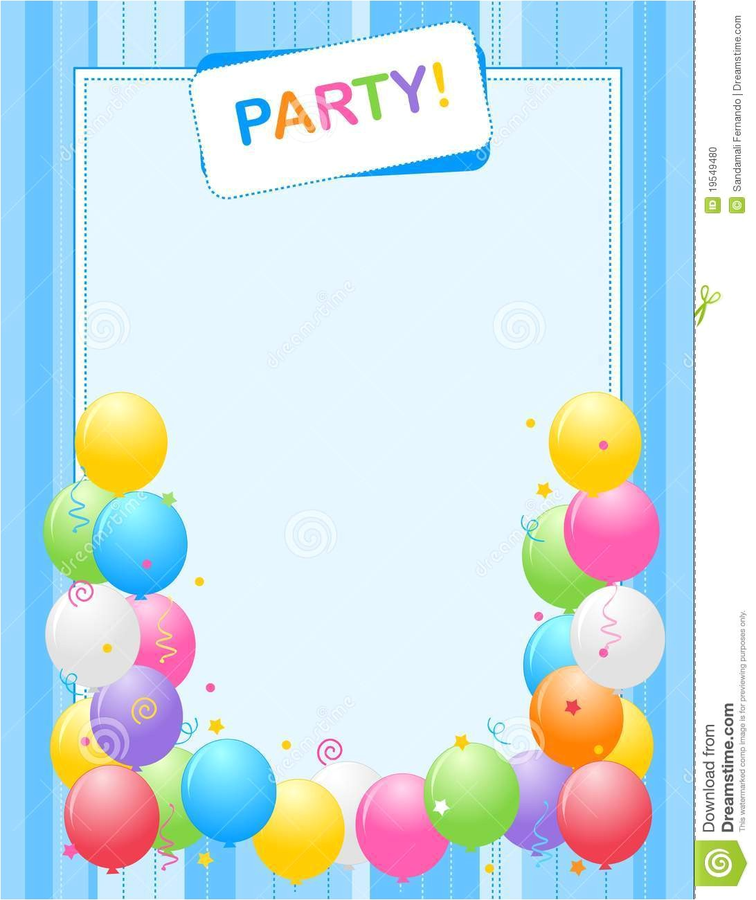 Birthday Invitation Frames Party Invitation Frame Stock Vector Illustration Of