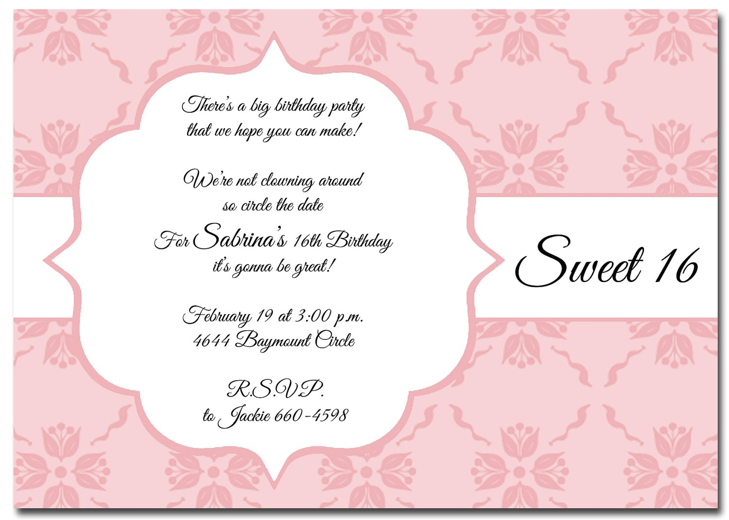 868411 elegant frame birthday invitations