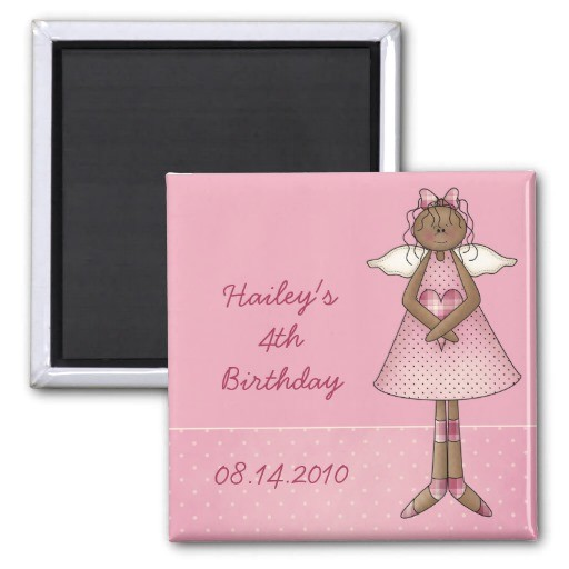 angel birthday invitation magnet 147254901833795056