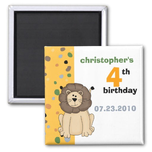 lion birthday invitation magnet 147566339257242799