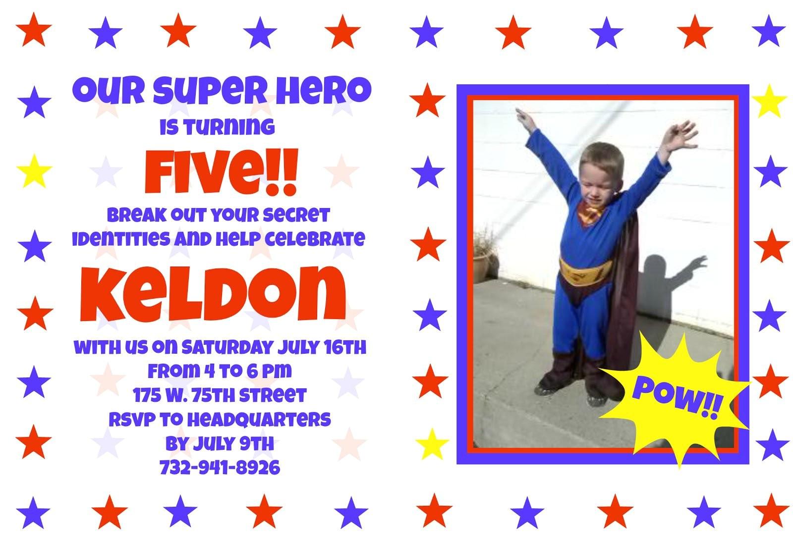 superhero birthday invitation wording