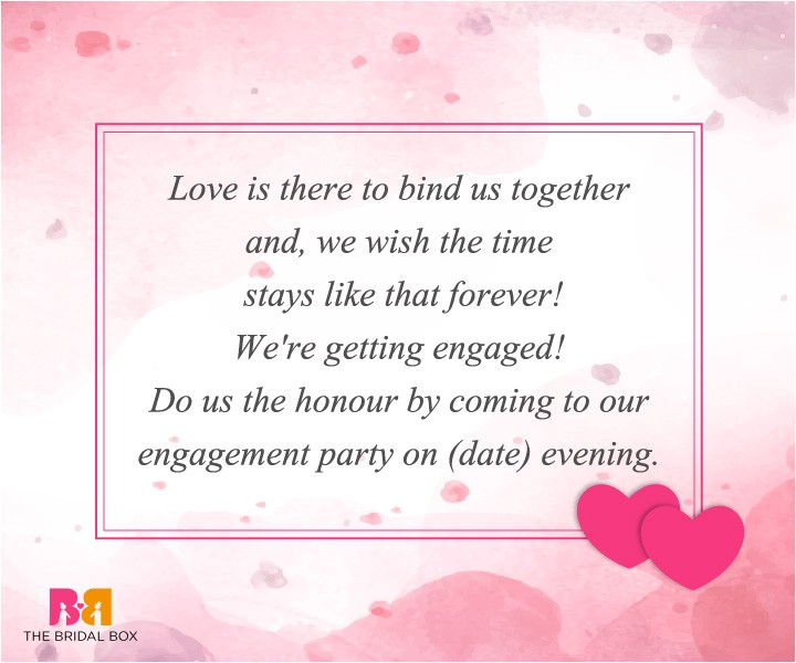 beautiful engagement invitation sms to announce in style 006121