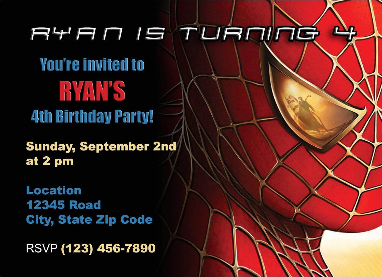 spiderman birthday invitation