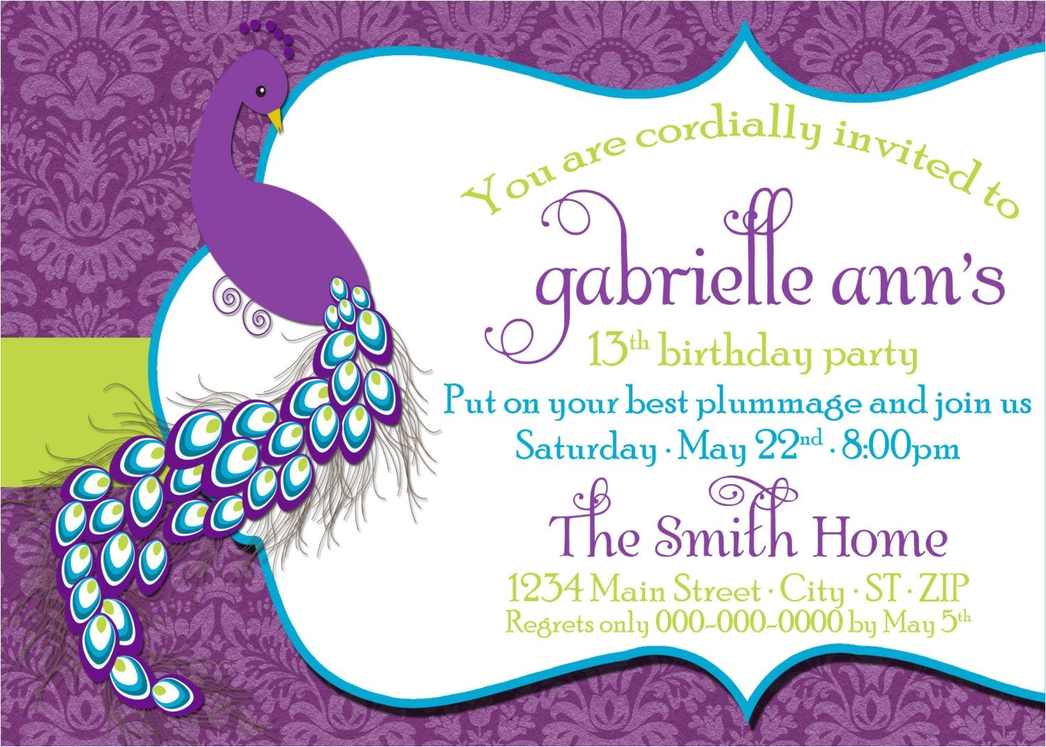 Birthday Invitation with Dress Code Birthday Invitations Tween Birthday Party Invitations