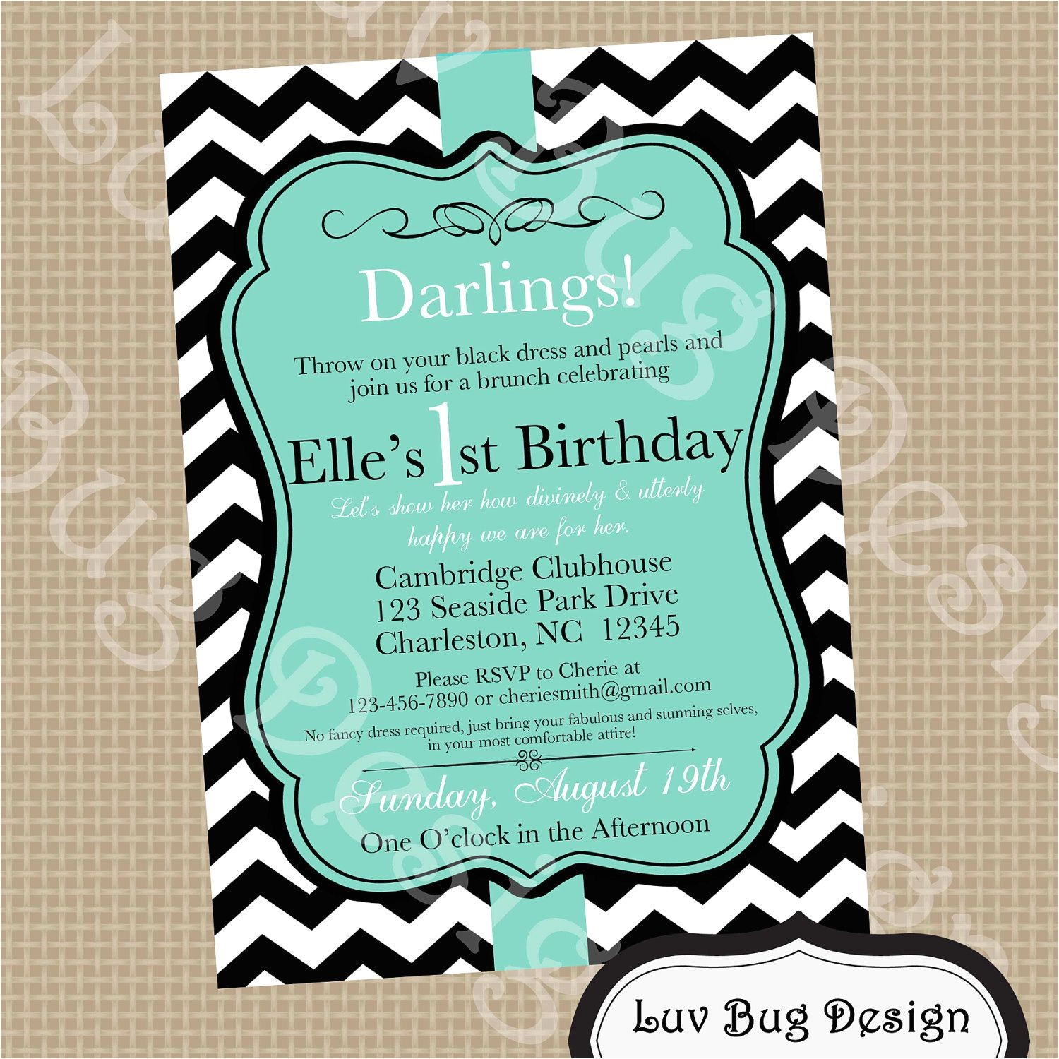 birthday party invitation dress code wording