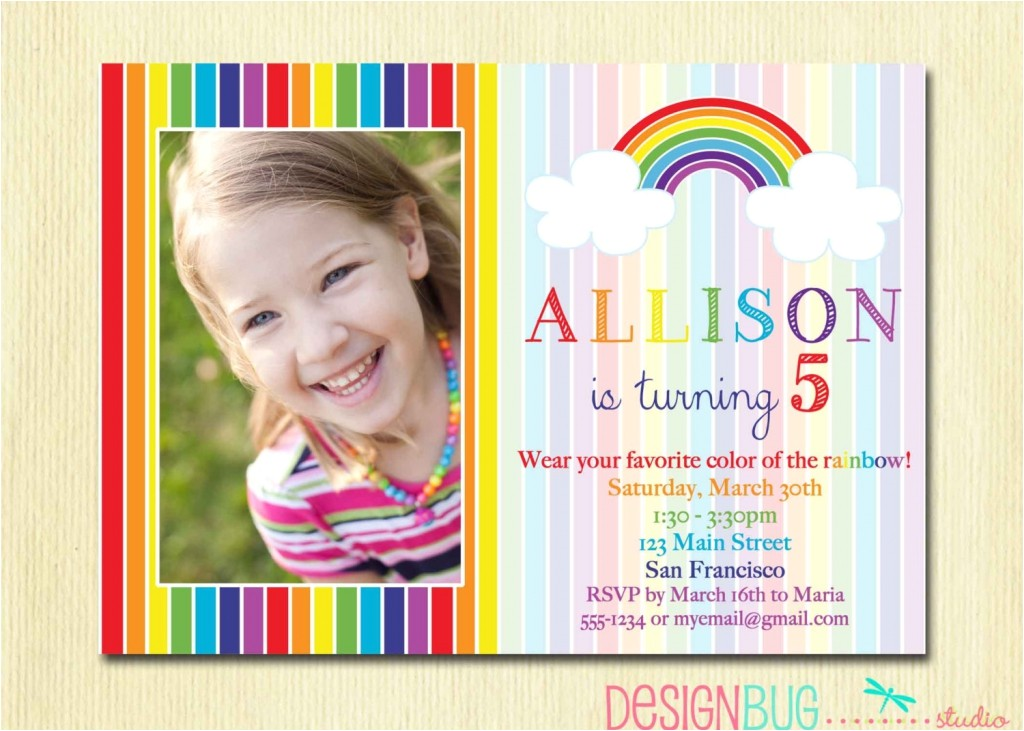5 years old birthday invitations wording