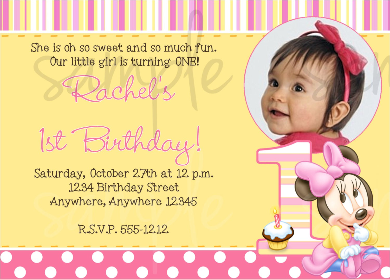 one year old birthday invitation wording
