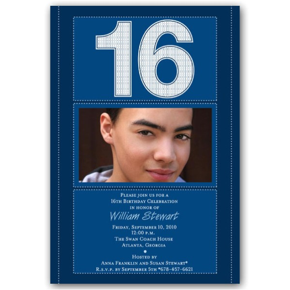 Birthday Invitations for 16 Year Old Boy Free Printable 16 Year Old Birthday Invitation Template