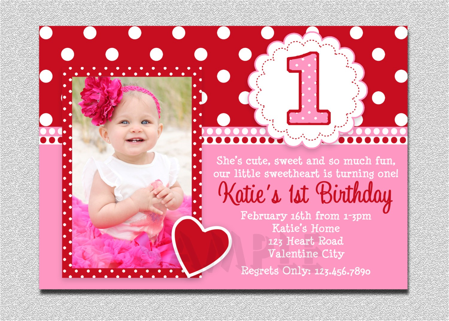 baby girls 1st birthday invitation cards ideas