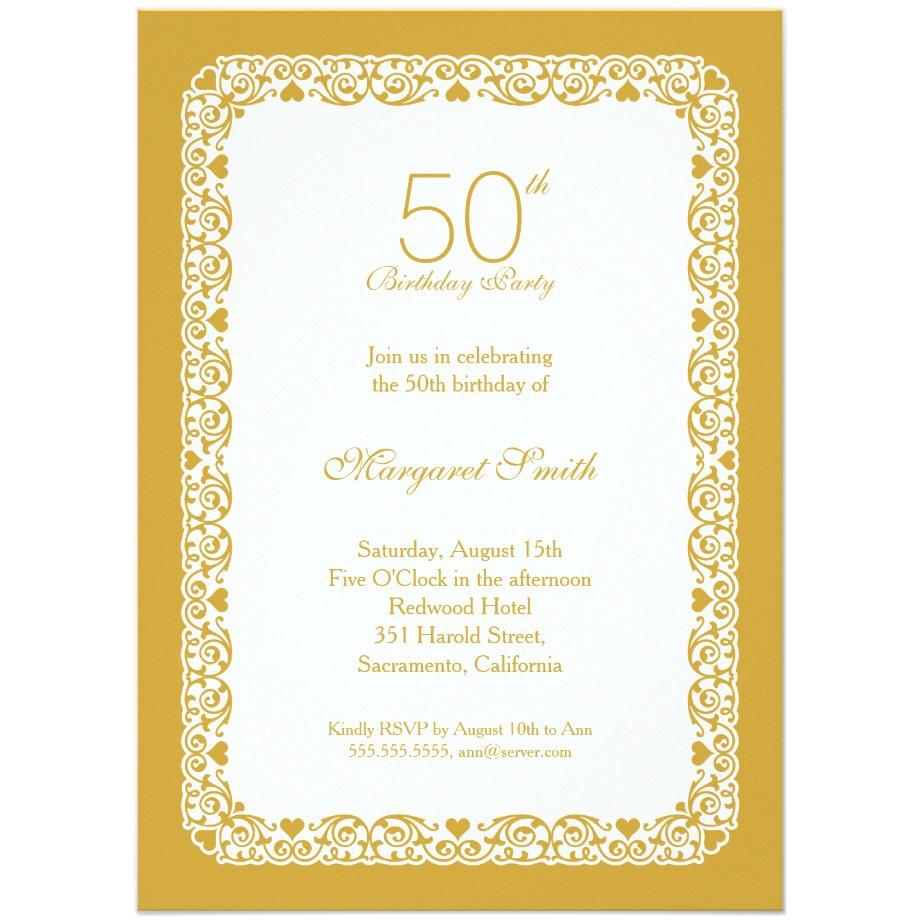50 birthday invitations