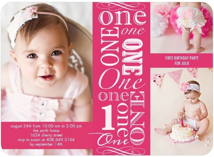 one year old birthday party invitations ideas