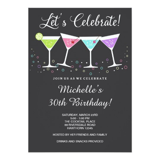 Birthday Invite Wording for Adults 30th Birthday Invitation Adult Birthday Invite Zazzle